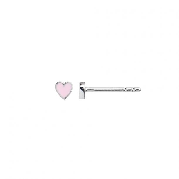 Stine A Petit Love Heart Light Pink/Silver