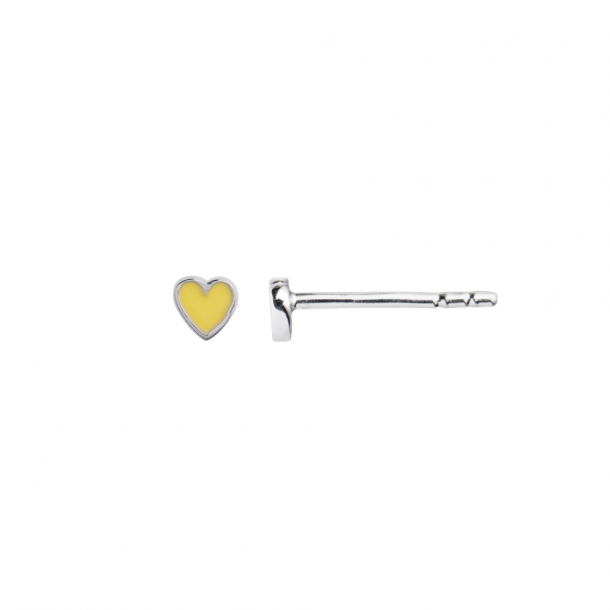 Stina A Petit Love Heart Yellow/Silver