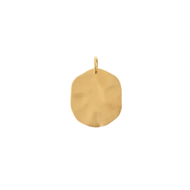 Stine A Big Hammered Coin Pendant Guld