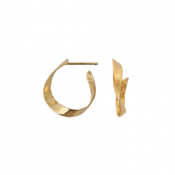 Stine A Twisted Hammered Creol Earring Gold